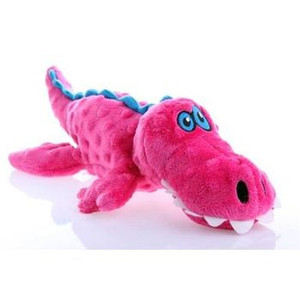GoDog Gator Dog Toy with Chew Guard-Small Pink