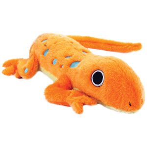 GoDog Amphibianz Salamander Dog Toy with Chew Guard