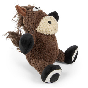 GoDog Checkers Sitting Horse Dog Toy Small