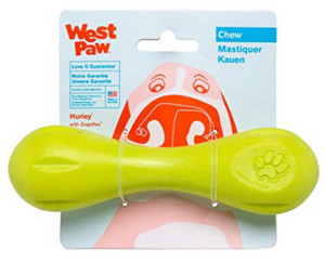 West Paw Hurley Zogoflex Bone Dog Toy Small Green