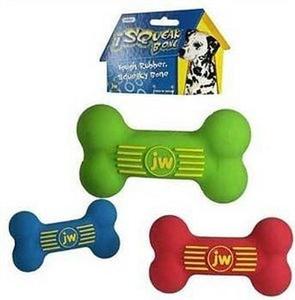 JW Pet ISqueak Bone -Medium Rubber Squeaker Bone for dogs
