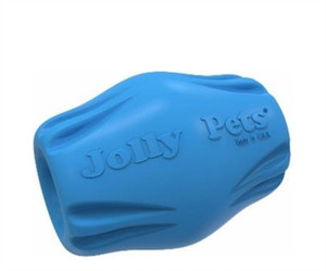 Jolly Pets Flex-n-Chew Bobble Medium-Blue stands up to the roughest, toughest dogs