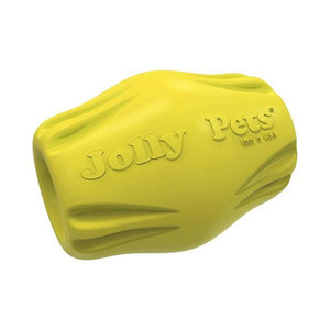 Jolly Pets Flex-n-Chew Bobble Small Yellow stands up to the roughest, toughest dogs