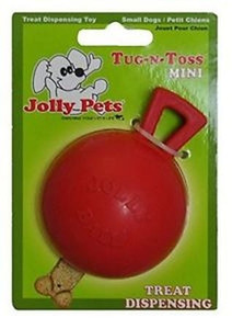 Jolly Pets Tug N Toss Ball Mini Dog Toy stands up to the roughest,toughest dogs