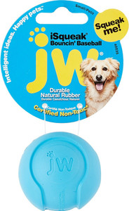 JW Pet I Squeak Bouncin' Baseball Small squeaker ball for dogs