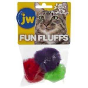 JW Fun Fluffs Cat Balls 3 pack