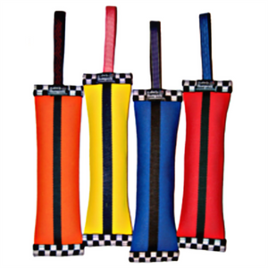 Katie's Bumpers Super Sqwuggie Firehose dog toy