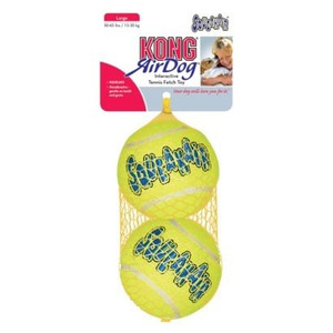 KONG Air Dog Large Squeaker Tennis Balls 2 pk
