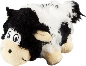 KONG Barnyard Cruncheez cow dog toy Small
