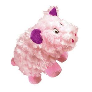 KONG Barnyard Cruncheez Pig dog toy large