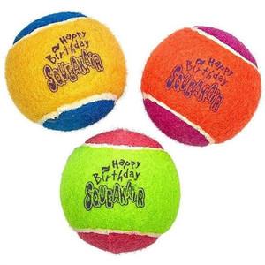 KONG Happy Birthday Squeaker Balls Medium 3 Pack