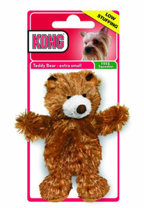 KONG Plush Teddy Bear Dog Toy Extra Small