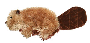 KONG Plush Beaver Dog Toy Small