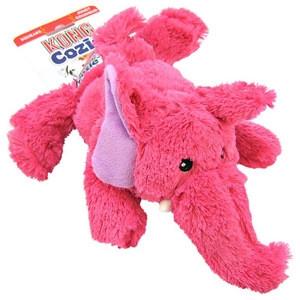 KONG Cozie Plush Dog Toy-Elmer Elephant Small