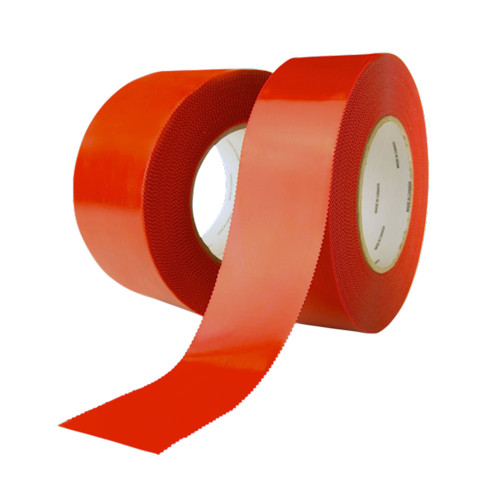 Red Serrated-Edge Polyethylene Tape