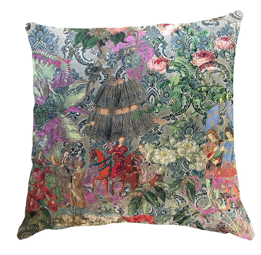 Cushion - Fancy Floral Remix - Wallpaper Flowers