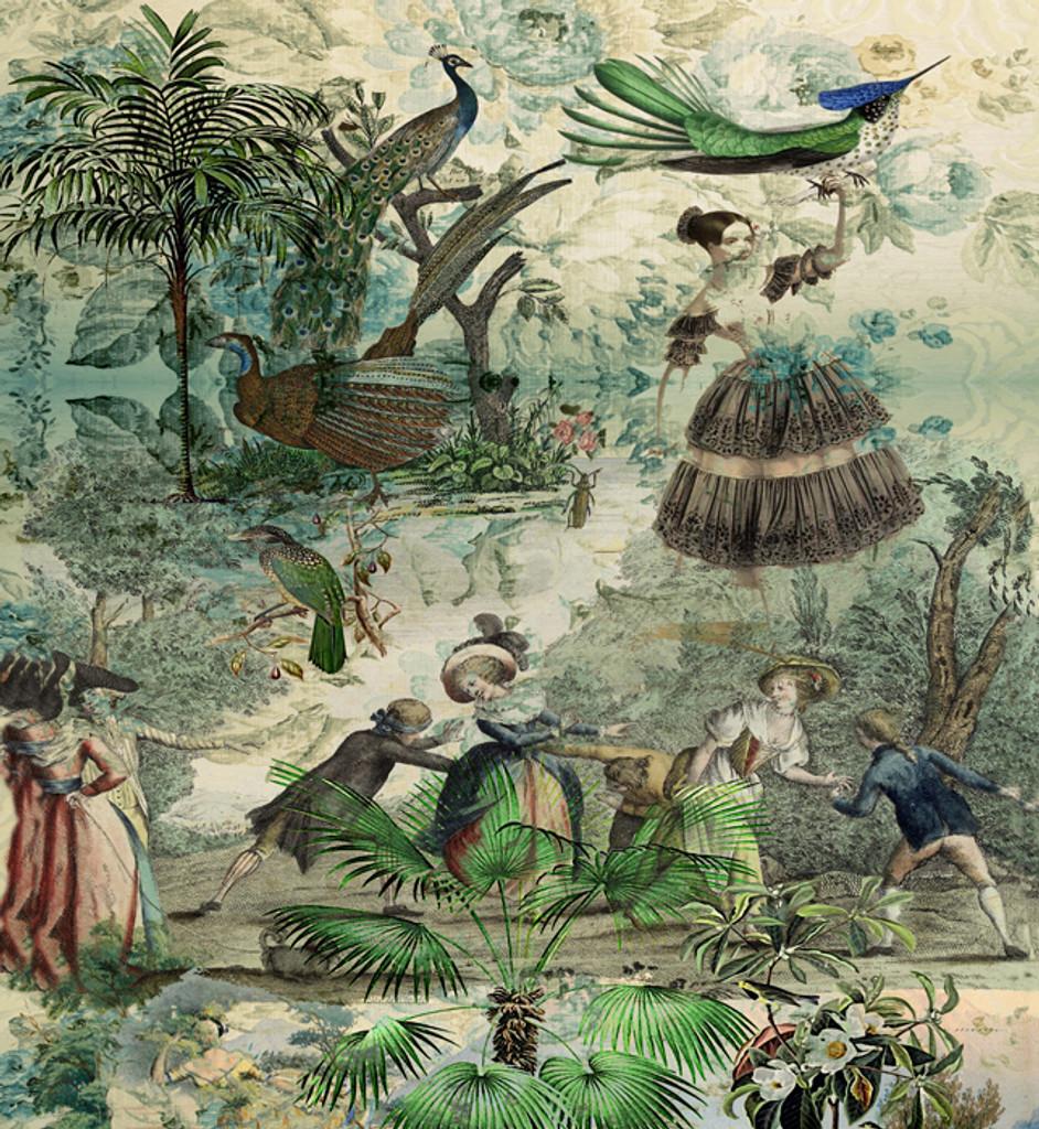 Fabric -  Vintage Peacock
