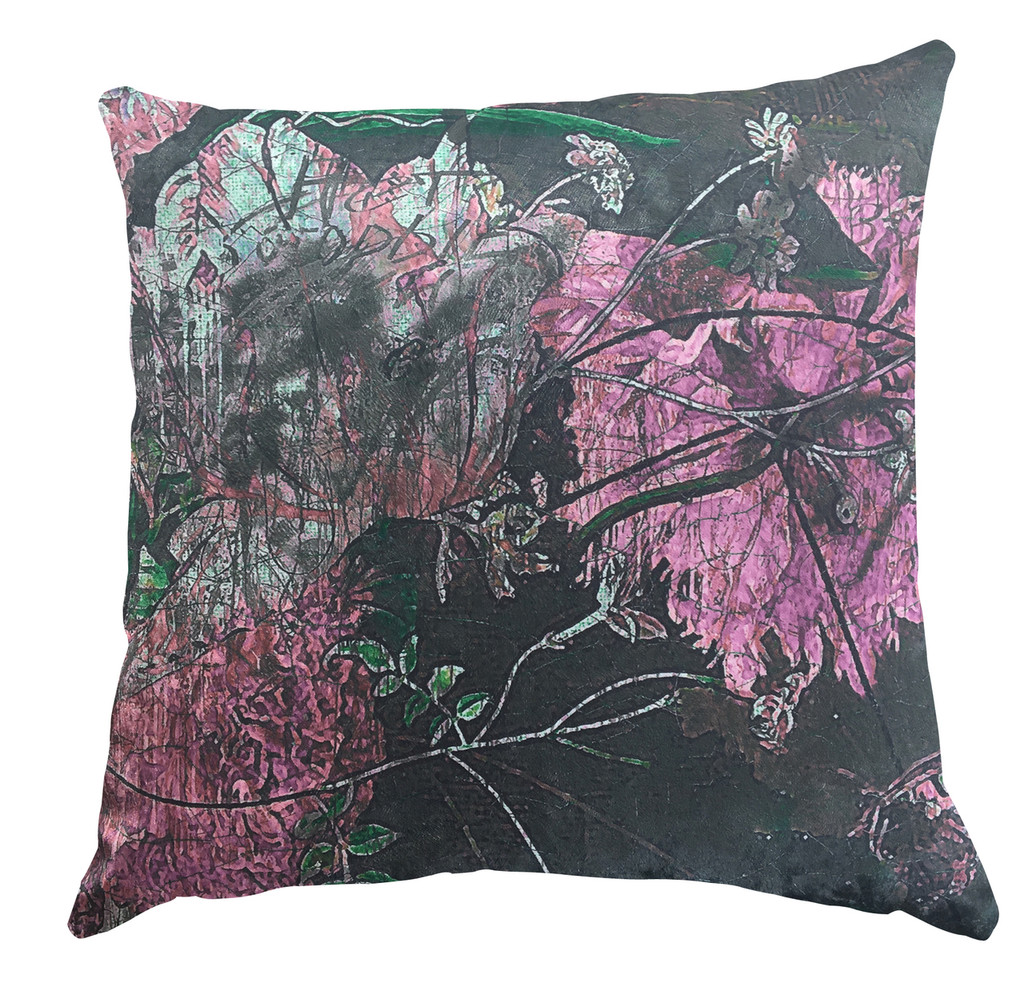 Cushion Cover - Still Life with Flowers - Rose Pink