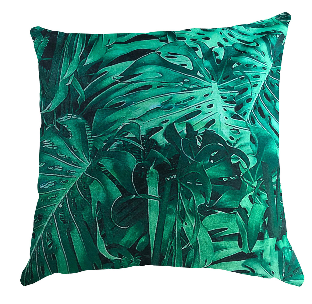 Cushion - Jungle Vibe - Metallica Green