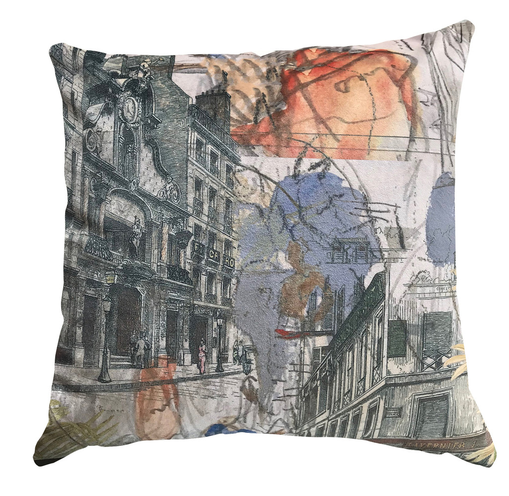 Cushion - Urban Sketches - Street Scapes