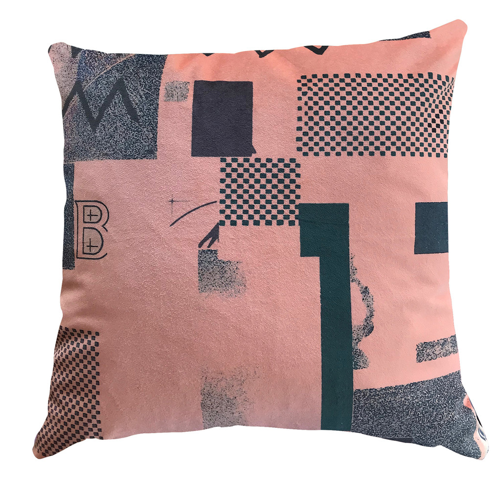 Cushion - Modigliani Was Here - Abstract in Pink