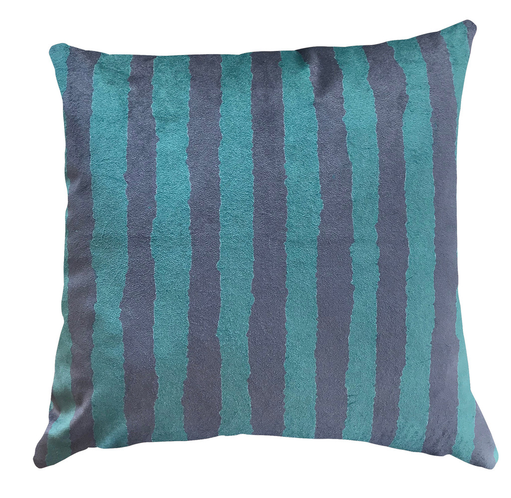 Cushion - Modigliani Was Here - Dark Green Stripe