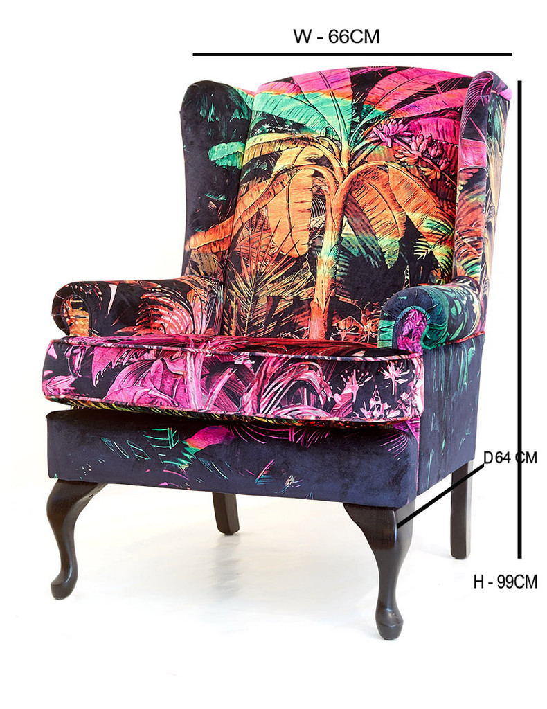 SOLD - VINTAGE CHAIR - JUNGLE VIBE UPHOLSTERY