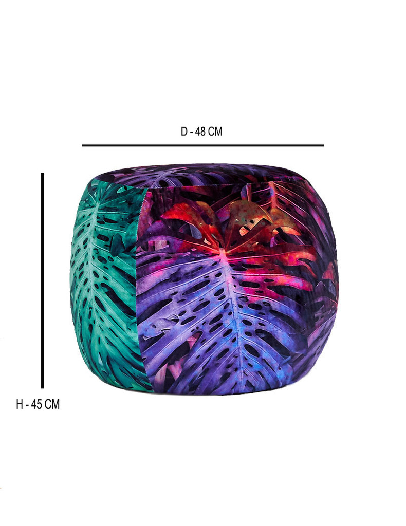 SOLD - OTTOMAN JUNGLE VIBE MULTICOLOUR