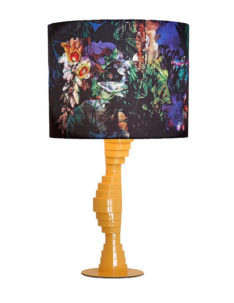 SOLD - SMALL YELLOW LAMPBASE