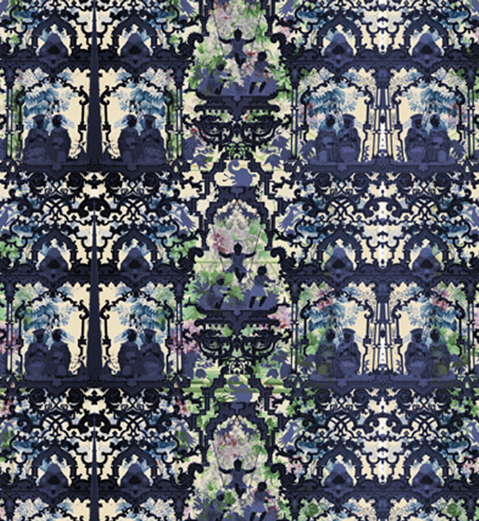 Wallpaper - Chinoiserie - In the Garden of Double Happiness