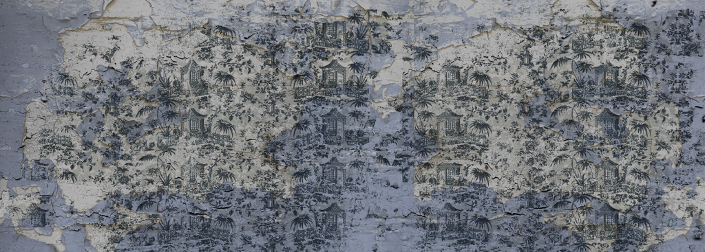 Wallpaper - Chinoiserie -Enchanted Garden - Fading  Pewter