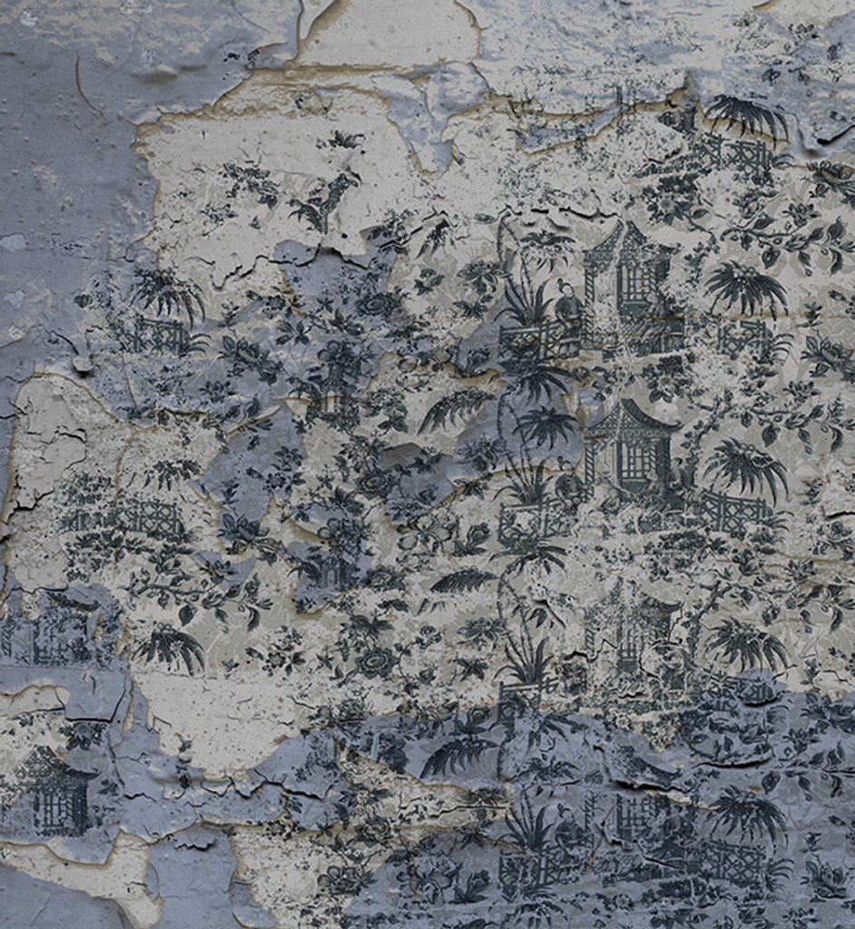 Wallpaper - Chinoiserie - Enchanted Garden - Fading Pewter