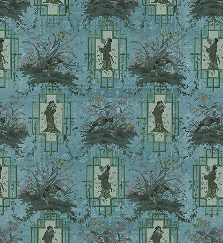 Fabric - Chinoiserie - Eldest Princess - Blue