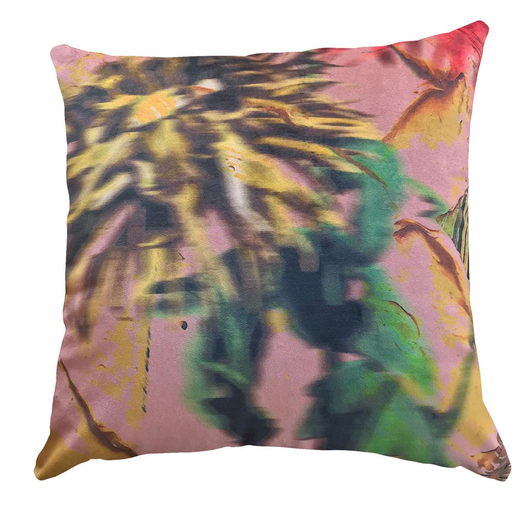 Cushion Cover  - Blurred Vision - Yellow Crysanthemum