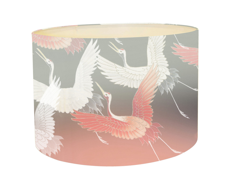 Lampshade - Ryokan Dreaming - Cranes in Flight Pink