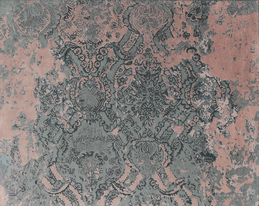 Rug - Faded Empire - Pink & Grey