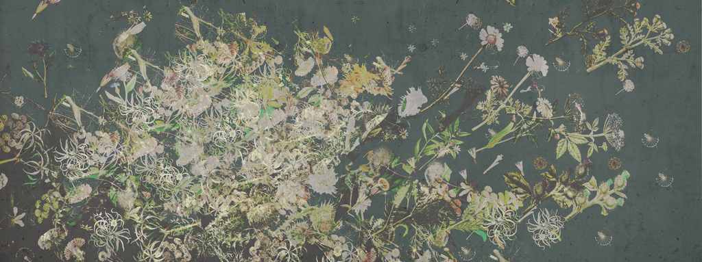 Wallpaper - Floral Explosion - Chalky