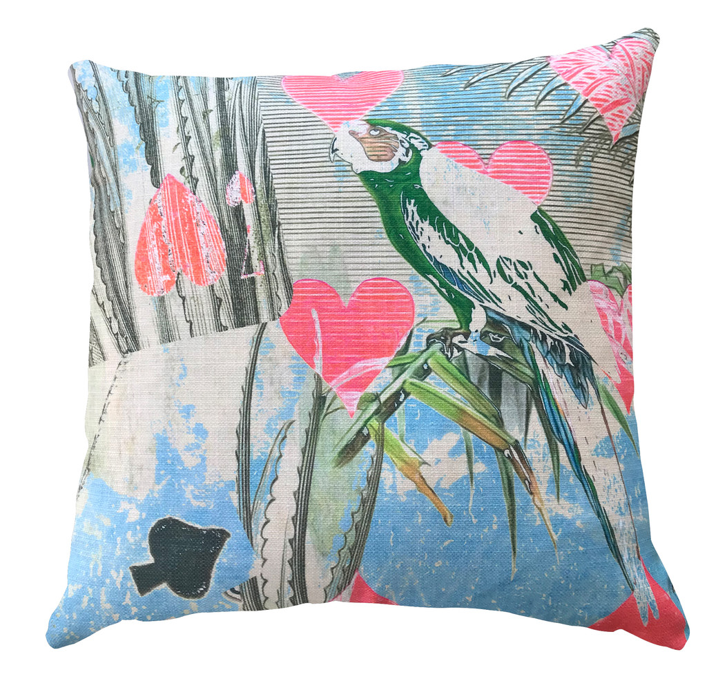 Cushion Cover - The Card Players - Bird in the Hand