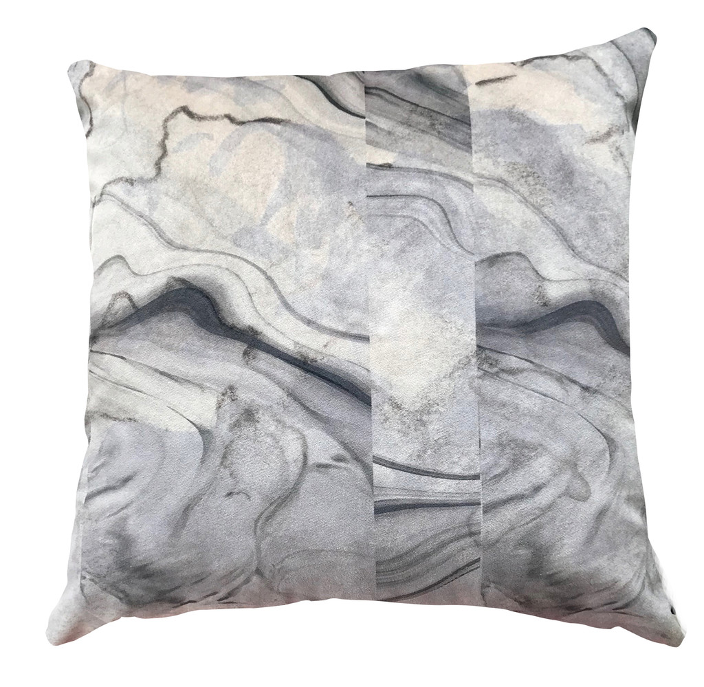 Cushion Cover - Broken Marble - Black Sesame