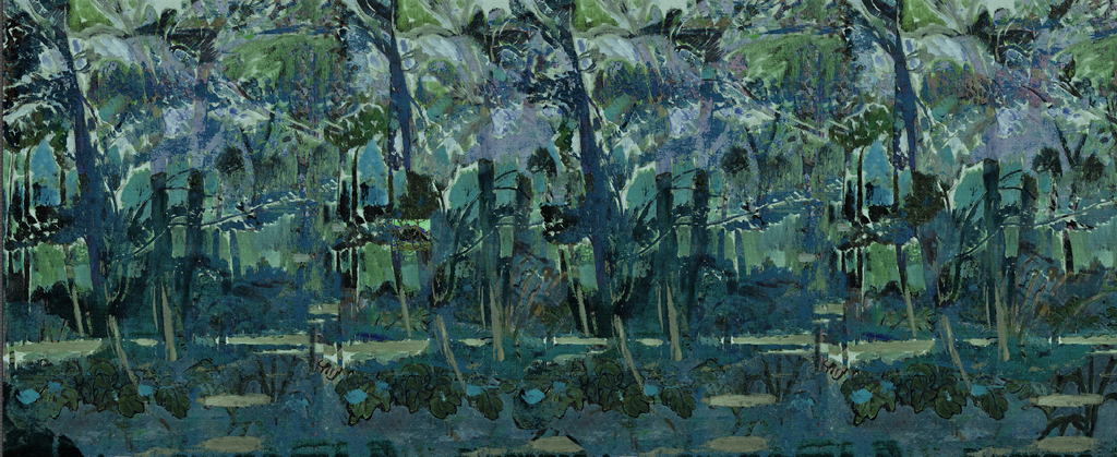 Wallpaper - Fauve Forest in Blue