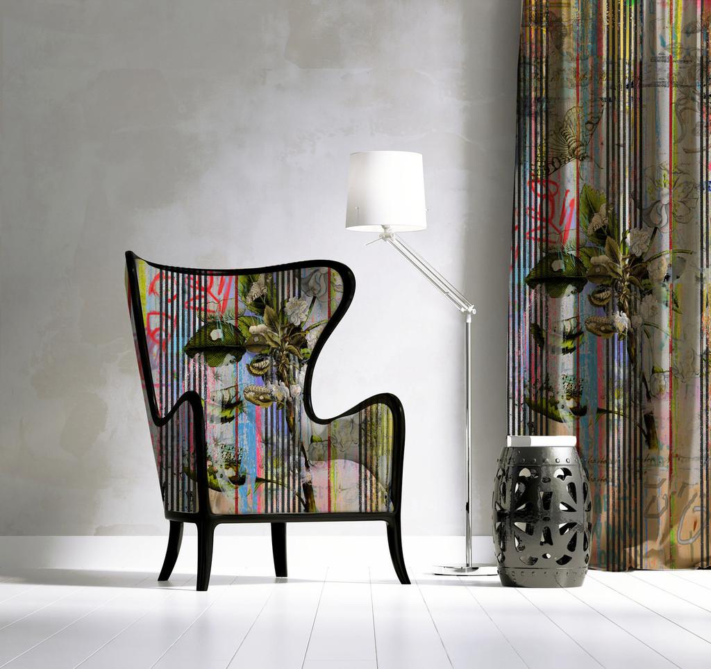 Fabric - Botanical Ticking - Floral