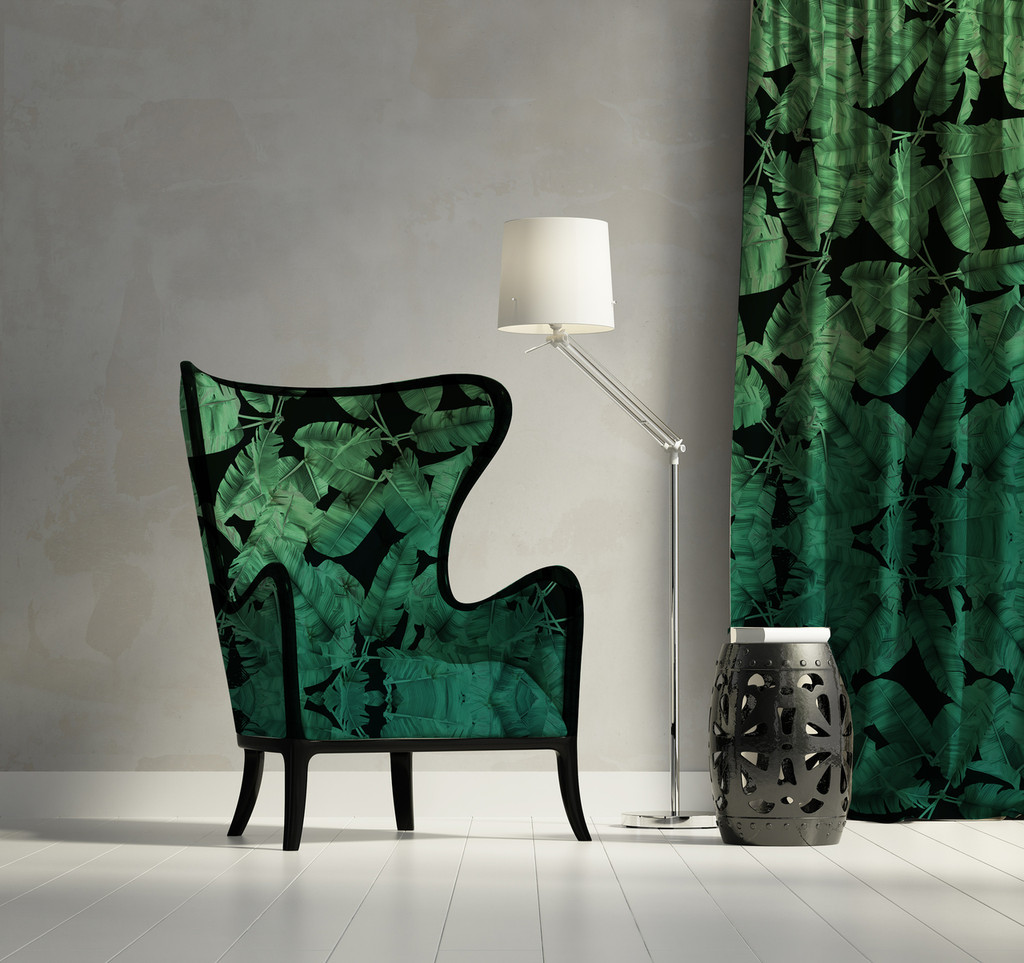 Fabric - Jungle Noir - Green