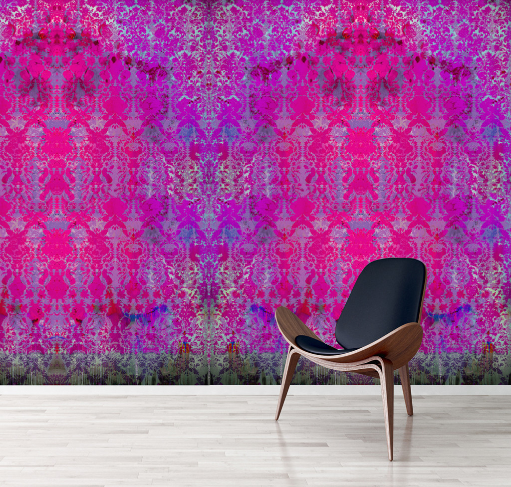 Wallpaper - Colour Crash - Magenta Damask