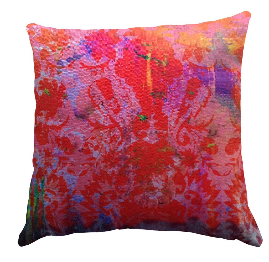 Cushion - Color Crash - Saffron Damask