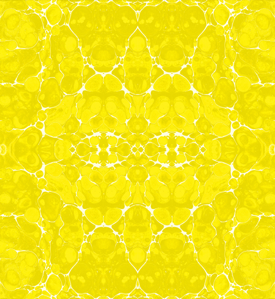 Fabric - Marble - Yellow and White