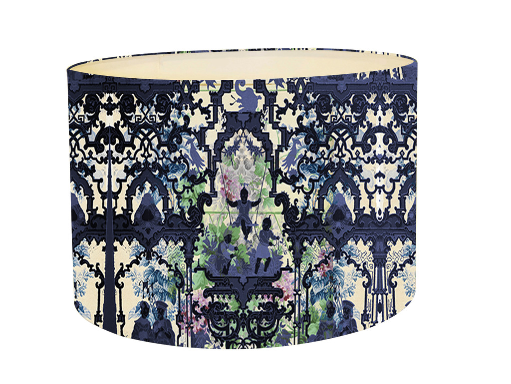 Lampshade - Chinoiserie - In the Garden of Double Happiness