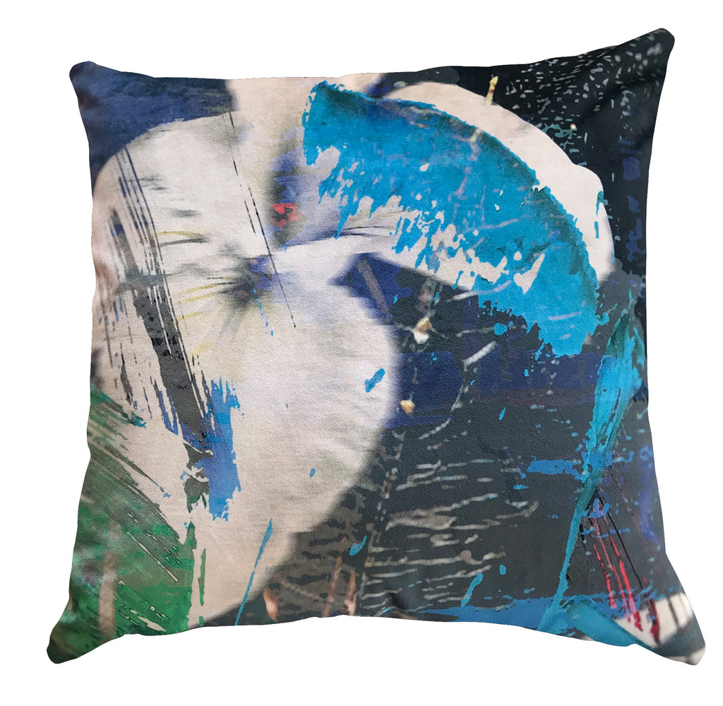 Cushion Cover - Blurred Vision - Blue Iris