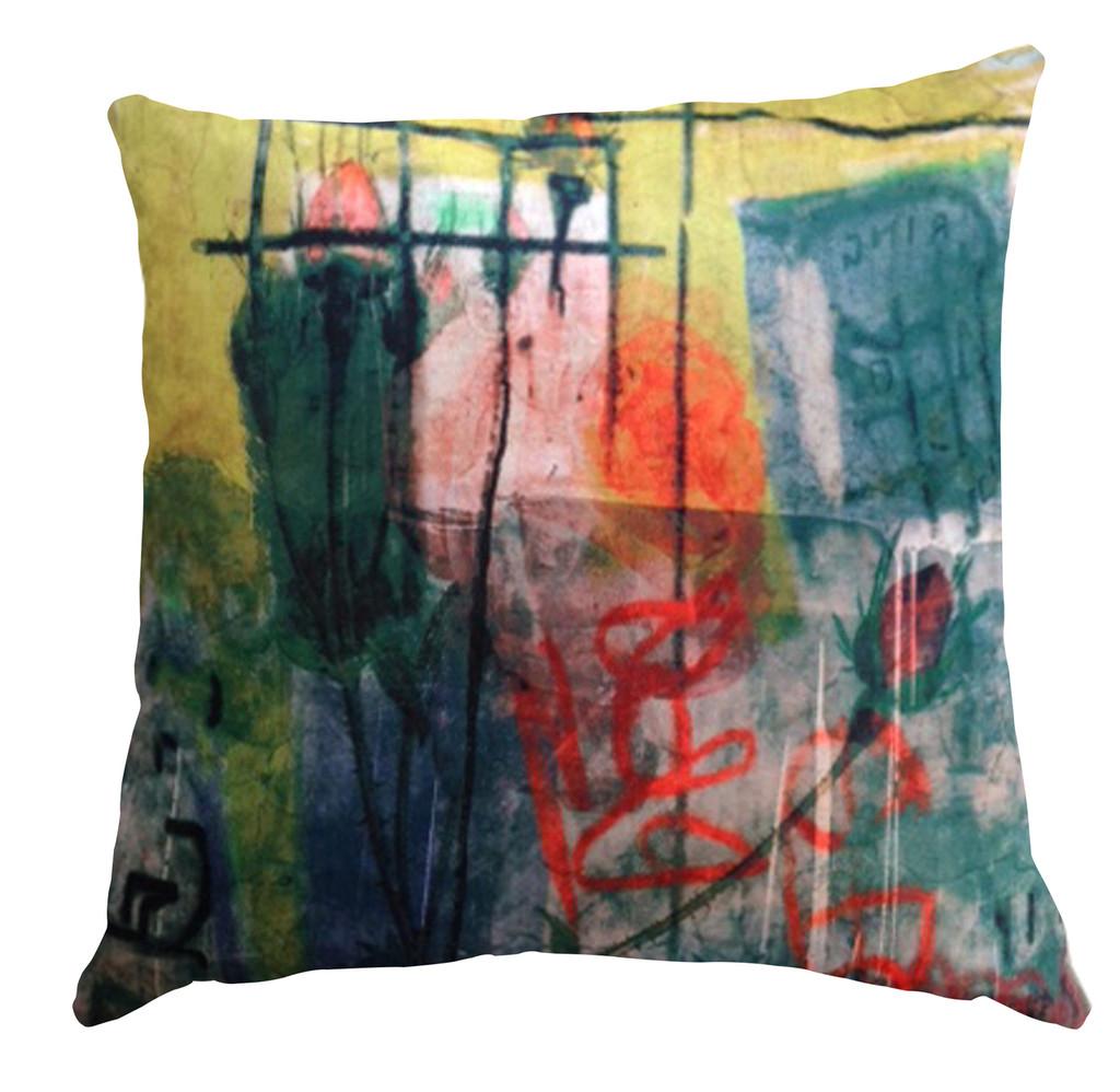 Cushion Cover - Graffiti Rose