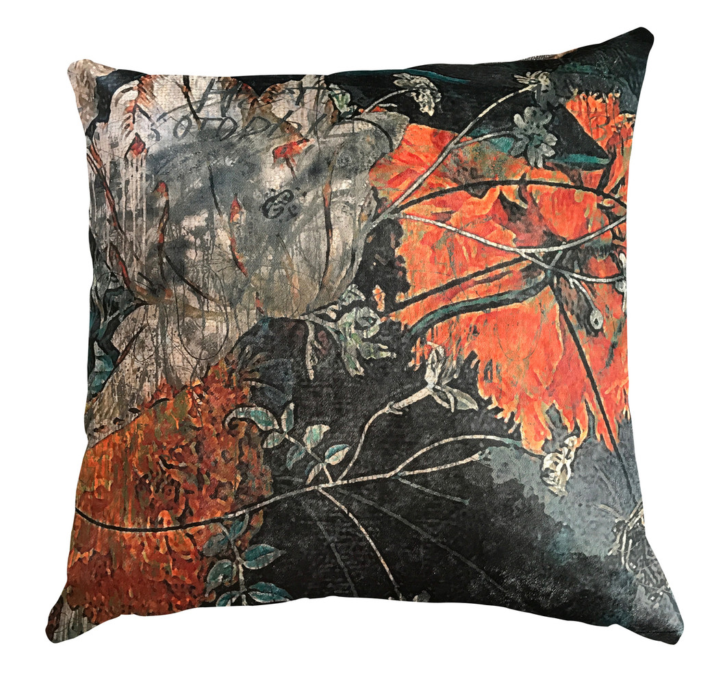 Cushion - Still Life with Flowers - Orange is the New Black