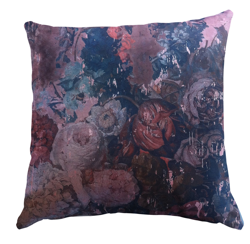 Cushion - Still Life with Flowers - Pink